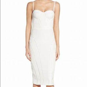 MISHA Bustier Midi Dress Sz 6